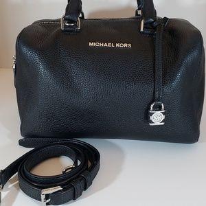 Michael Kors Black Large Leather Kirby Bag